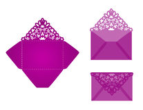 Square laser cut invitation template Stock Image