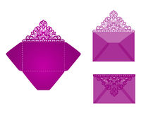 Square laser cut invitation template Royalty Free Stock Image