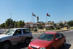 The square in Latakia, Syria royalty free stock images