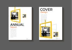 Square layout yellow abstract background modern cover design mod. Ern book cover Brochure cover template,annual report, magazine and flyer Vector a4 stock illustration