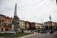 Square in Lazise on Lake Garda Stock Photography