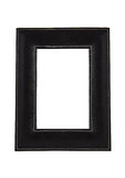 Square leather art photo frame isolated on white Stock Images
