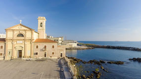 Square of Leghorn along the sea, Tuscany from the air Royalty Free Stock Image
