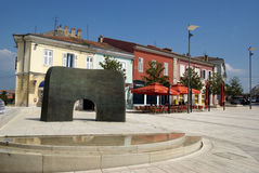 Square of liberty in Porec,Croatia Stock Images