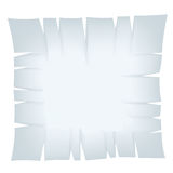 Square Light Blue Torn Banner Stock Photo