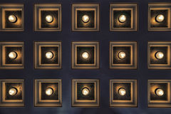 Square Lights. A panel of lights forming an abstract scene Royalty Free Stock Images