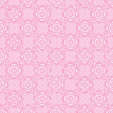 Square line rose pink flower symmetry seamless pattern Royalty Free Stock Photo