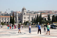 Square in Lisbon, Portugal Stock Photo