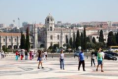 Square in Lisbon, Portugal Stock Photo