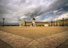 The square of Lisbon. Symmetry. Portugal. stock photography