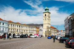 Square in Litomysl, Czech Republic. Litomysl, Czech Republic - July 25: Smetana Square in Litomysl July 25, 2014 stock photography