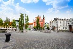 Square in Ljubljana Stock Image