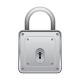 Square lock. A square lock on a white background Stock Images