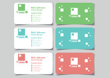Square Logo Business Name Card Mock Up Set Vector Design Royalty Free Stock Images