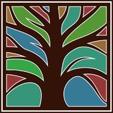 Logo with a tree. Stock Image