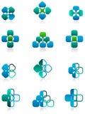 Square logo set Royalty Free Stock Photo