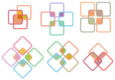 Square logo set Stock Photography