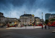 Square in London at dusk Royalty Free Stock Photo