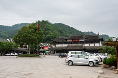 Square before Longchuan scenic spot Royalty Free Stock Photos