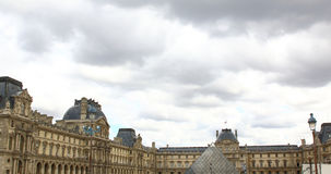 Square of Louvre building in Paris, France. Summer time in europe Royalty Free Stock Photography