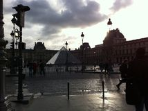 Square at the Louvre Museum Royalty Free Stock Image