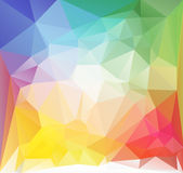 Square low poly vector background multicolored. Multicolored squared low polygonal abstract pattern. Vector illustration. Bright triangles magic summer fantasy Royalty Free Stock Images