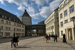 Square in Luxembourg City Stock Photography