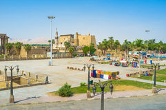The square of Luxor Royalty Free Stock Photos