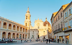The Square of Madonna in Loreto Royalty Free Stock Photography