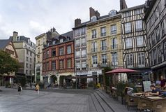 Square of The Maid of Orleans in Rouen. royalty free stock photography