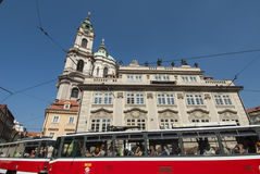 The square of mala strana prague czech republic europe Royalty Free Stock Image