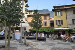 Square in Malcesine Stock Photography