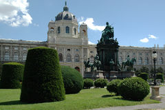 Square Maria Theresia in Vienna Royalty Free Stock Images