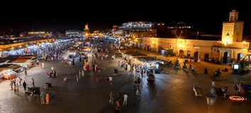 Jemaa el Fnaa Marrakech, Morocc royalty free stock photo