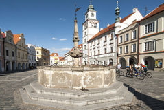 Square masaryk of trebon czech republic europe Stock Photography