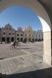 Square masaryk of trebon czech republic europe Royalty Free Stock Photo