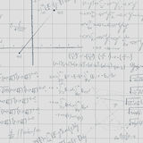 Square math paper formula pattern Royalty Free Stock Photos