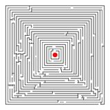 Square maze royalty free stock photography