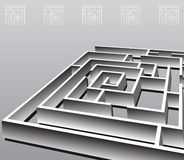 Square Maze Stock Images