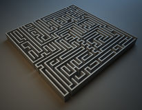 Square maze Stock Image