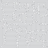 Square maze (Gray) Stock Photo