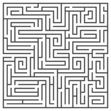 Square maze isolated on white background. Medium complexity. Stock Photography
