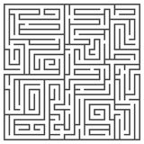 Square maze isolated on white background. Medium complexity. Royalty Free Stock Images