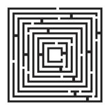 Square maze, labirynth vector symbol icon design. Royalty Free Stock Photography
