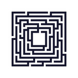 Square maze, labyrinth icon. Business concept. Royalty Free Stock Images