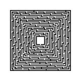 Square maze on a white background with black lines