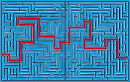 Square maze 42x26 (Dark-blue) Royalty Free Stock Images
