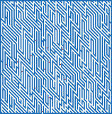Square maze 49x36 (Dark-blue) Stock Photography