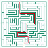 Square maze 21x21 (Green) Royalty Free Stock Photography
