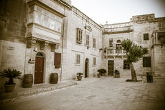 Square at Mdina, Malta stock photo